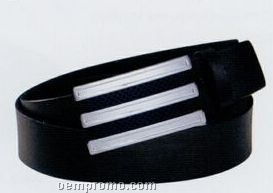 "Build A Belt Leather Belt Strap W/ Interchangeable Design/ Brown/ 32"""