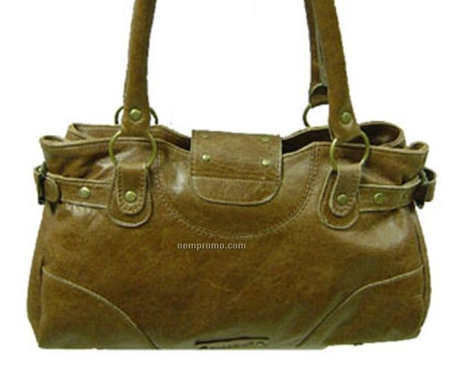 Leather Goat Chicago Purse - Summer Brown