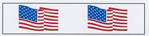 "Stock Imprinted Poly Pro Tape/ 3""X1000 Yard (Usa Flag)"