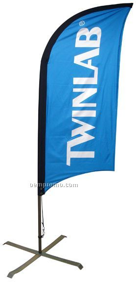 7' Double Sided Bow Banner System (Spot Color)