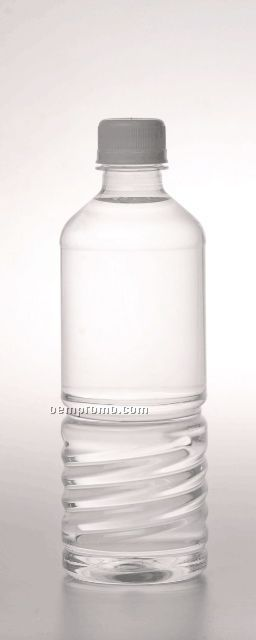 Bottled Water With Custom Label & White Flat Cap - 24 Pack (16.9 Oz.)