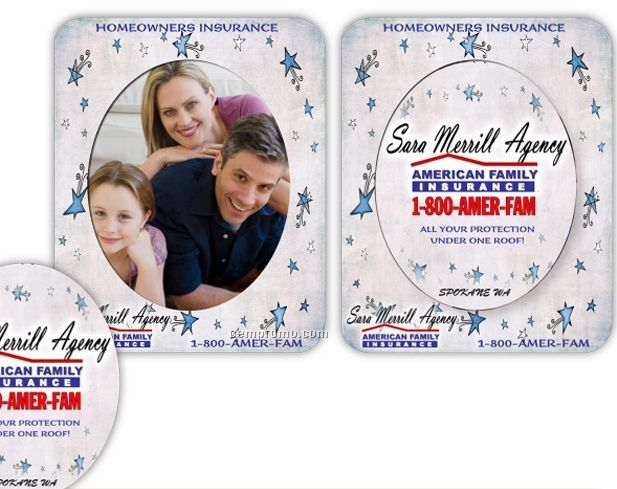 Oval Cutout Magnet Picture Frame