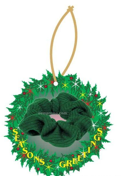Scrunchy Executive Wreath Ornament W/ Mirrored Back (3 Square Inch)