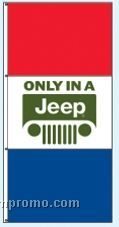 Stock Single Face Dealer Rotator Drape Flags - Only In A Jeep