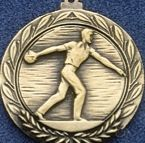 """1.5"""" Stock Cast Medallion (Bowling/ Male)"""