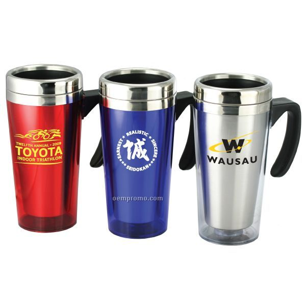 16 Oz Double Walled Acrylic/Stainless Steel Tumbler