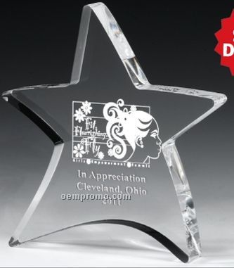 Laser Engraved Moving Star Paperweight