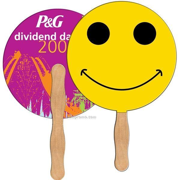 Smiley Face Stock Shape Fan
