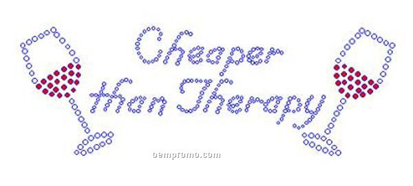 Cheaper Than Therapy Rhinestone Transfer