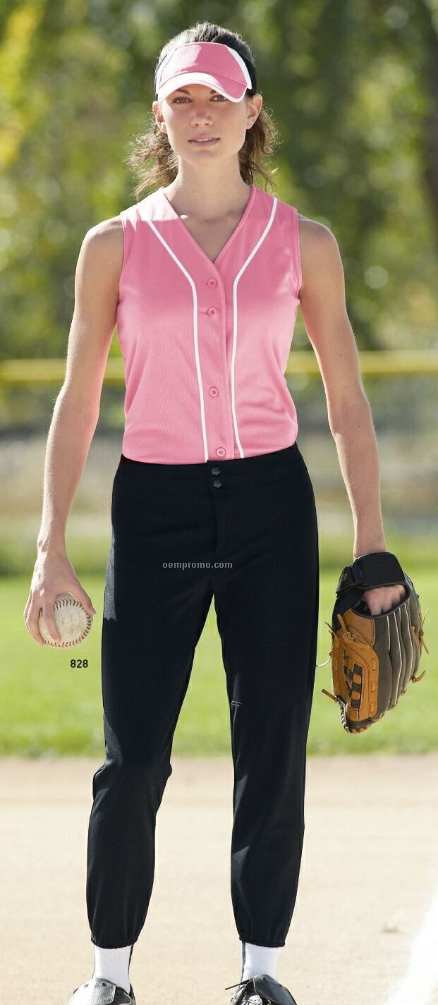 Ladies Low Rise Softball Pants