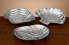 Nautilus Shell Pewter Tray