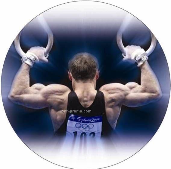 """Photo Mylar Insert - 2"""" Male Gymnastics"""