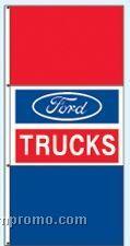 Stock Single Face Dealer Rotator Drape Flags - Ford Trucks