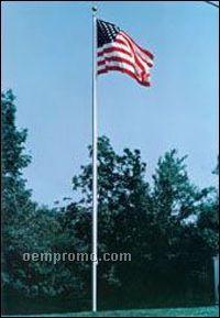 25' Aluminum Pole - With Flag