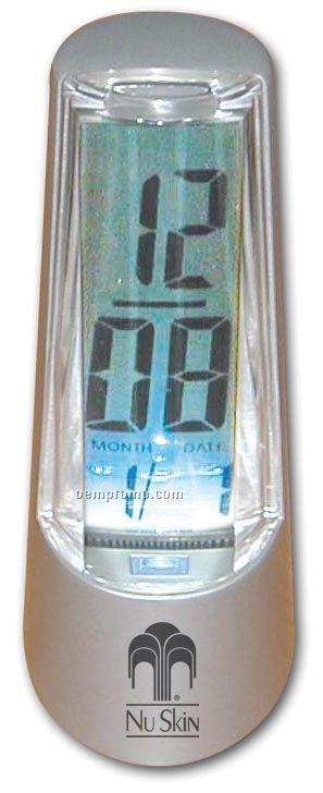 Metal Cone Shaped Alarm Clock W/ Blue Light