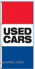 Single Face Stock Message Rotator Drape Flags - Used Cars