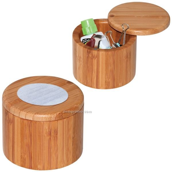 """Bamboo Canister (3.5""""X2.8"""") (Blank)"""