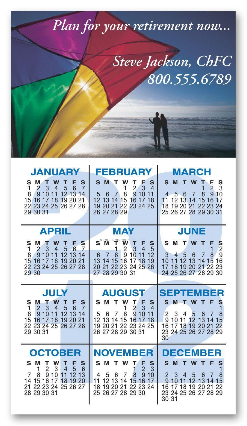 "Full Color Rectangle Calendar Magnet / 20 Mil - Group L1 (2 1/2""X4 1/2"")"