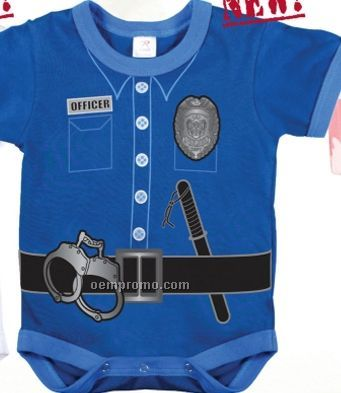 Navy Blue Infant Police Uniform Romper