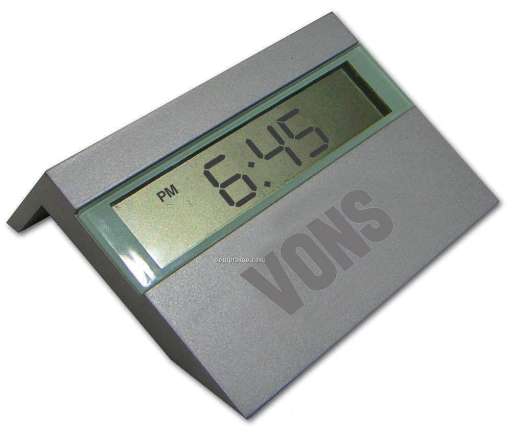 Metal Digital Clock W/ Date & Temperature