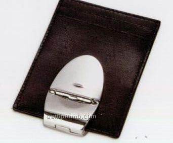 Milan Aluminum Cabretta Wallet - Black