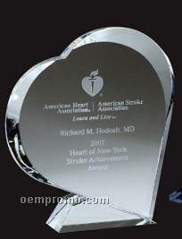 Optical Crystal Giving Heart Award