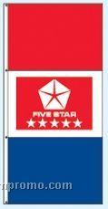 Stock Single Face Dealer Rotator Drape Flags - Five Star Red