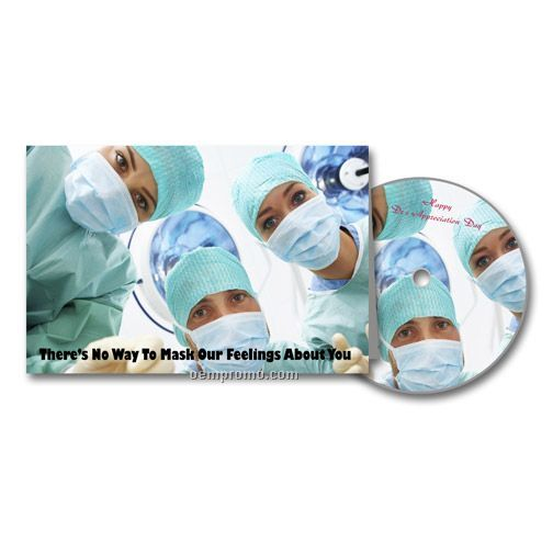 Surgery Medical Appreciation Greeting Card With Matching CD