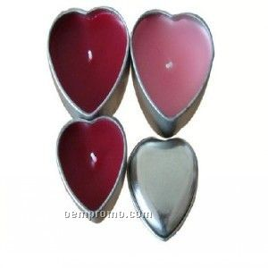 Heart Travel Candle Tin