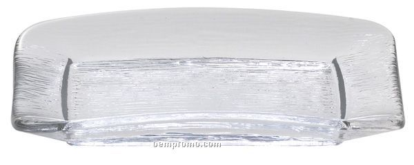 Rectangle Tuscany Glass Rain Collection Dishes