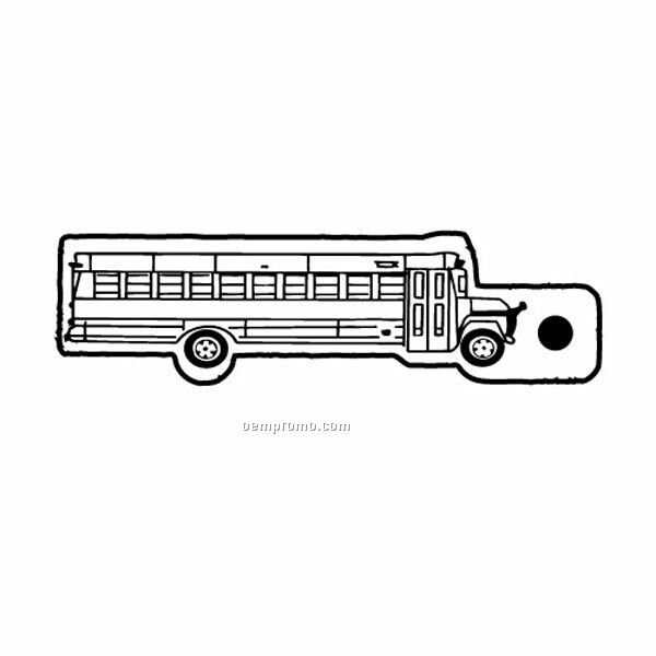 Stock Shape Collection School Bus 7 Key Tag