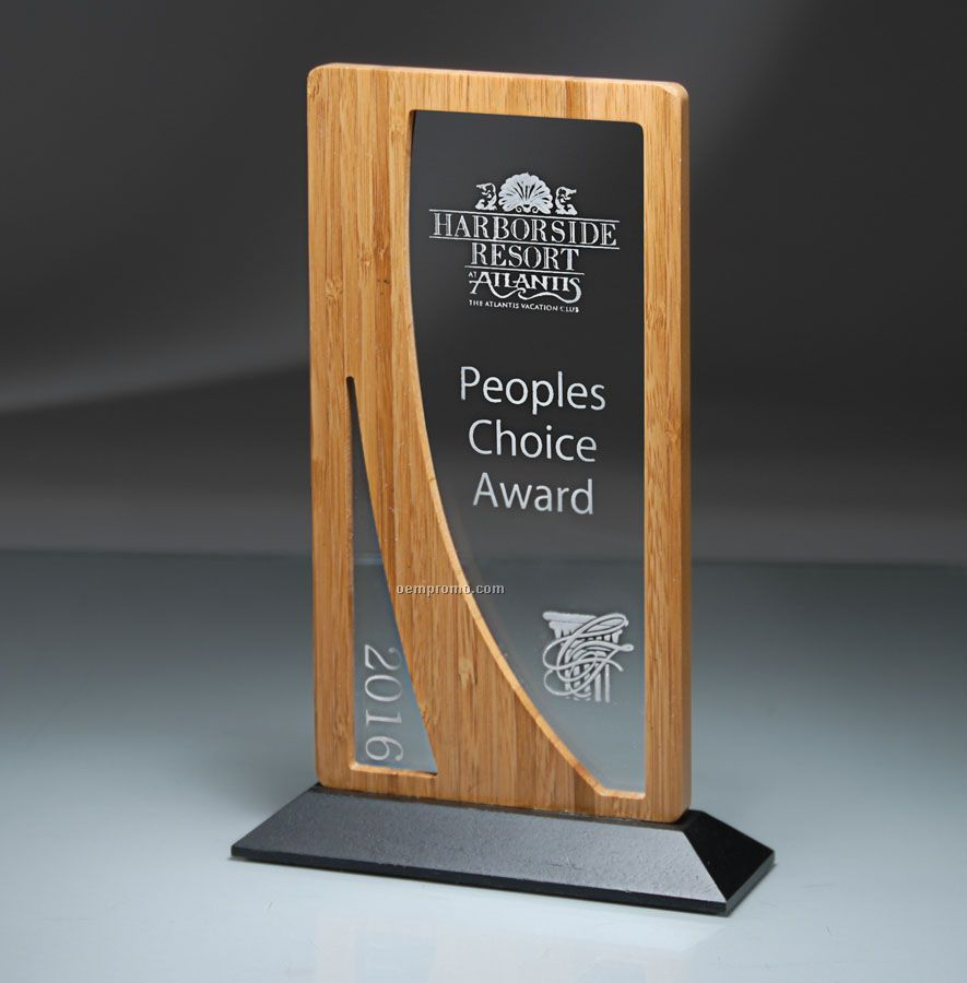 Bauhaus Series Bamboo/Lucite Vertical Window Award