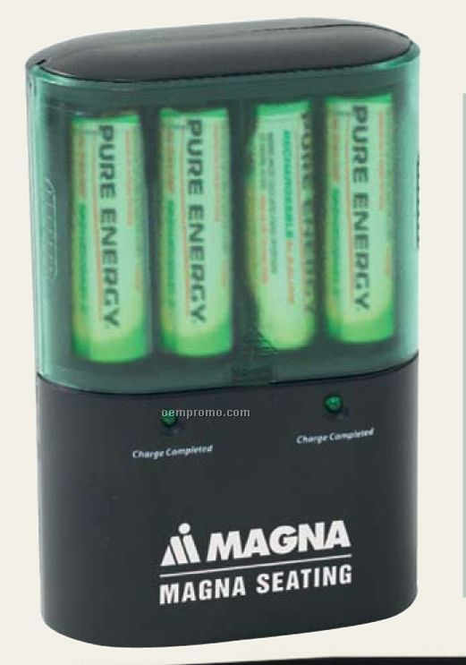Rechargeable Battery Gift Set W/ Charger