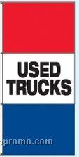 Single Face Stock Message Rotator Drape Flags - Used Trucks