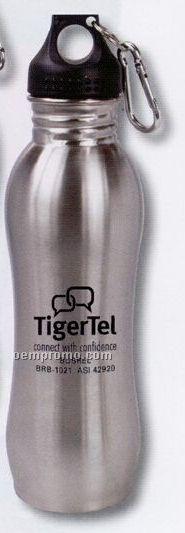 24 Oz. Stainless Steel Sport Bottle W/ Handle Stopper & Carabiner