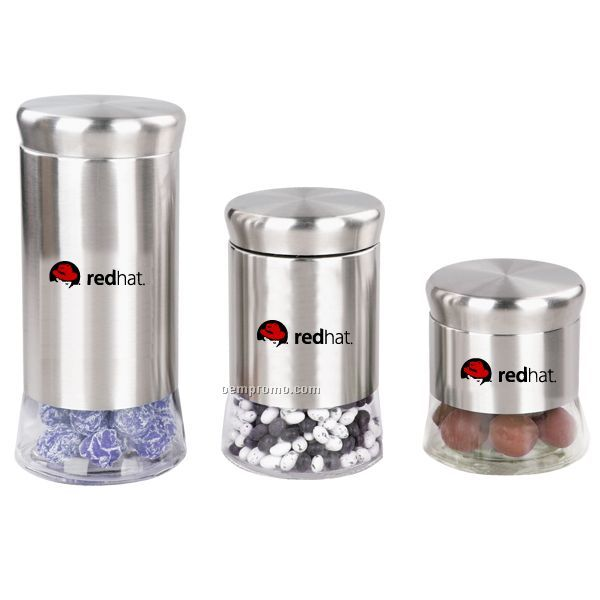 Coster 3pc Glass Canister Set (13oz Canister)