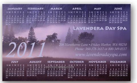 "Full Color Rectangle Calendar Magnet / 20 Mil - Group L2 (3""X5"")"