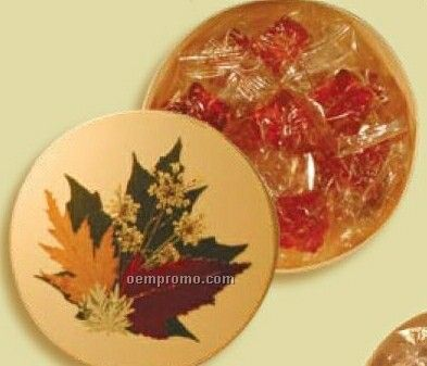 How Sweet Maple Syrup Peanut Brittle In Large Round Box (Thermal)