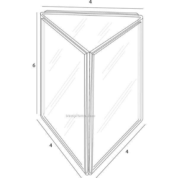 Six Sided Tent For 4'' W X 6'' H Inserts