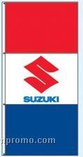Stock Single Face Dealer Rotator Drape Flags - Suzuki