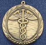 "1.5"" Stock Cast Medallion (Caduceus)"