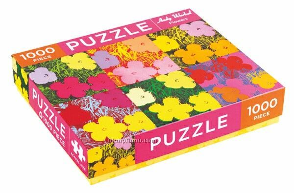 Andy Warhol Flowers Puzzle