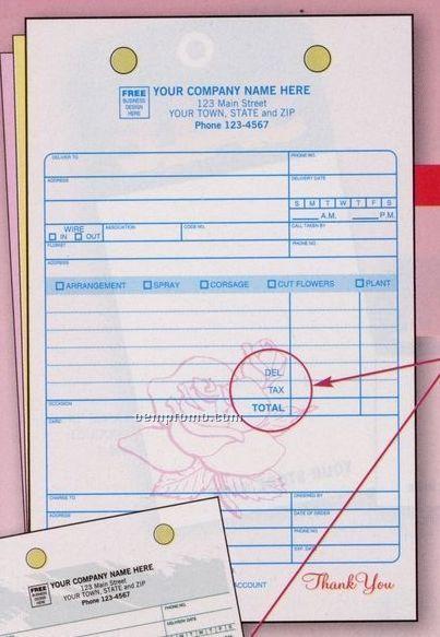 Classic Collection Florist Register Form (2 Part)