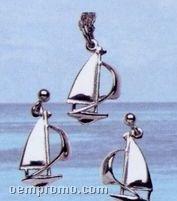 Sterling Silver Spinnaker Earrings