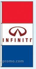 Stock Single Face Dealer Rotator Drape Flags - Infiniti