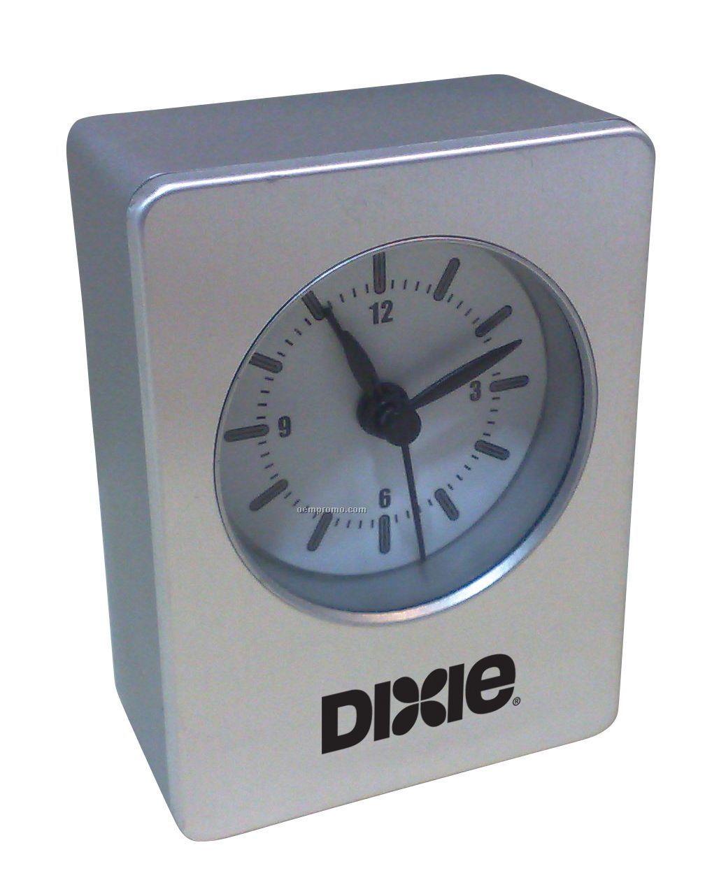 Aluminum Analog Alarm Clock