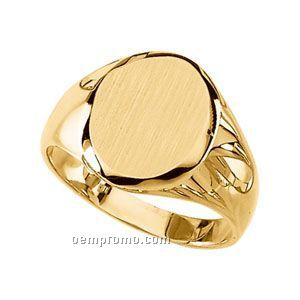 Gents' 14ky 13-1/4x10-3/4 Signet Ring