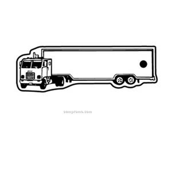 Stock Shape Collection Semi Truck 3 Key Tag