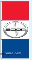 Stock Single Face Dealer Rotator Drape Flags - Scion