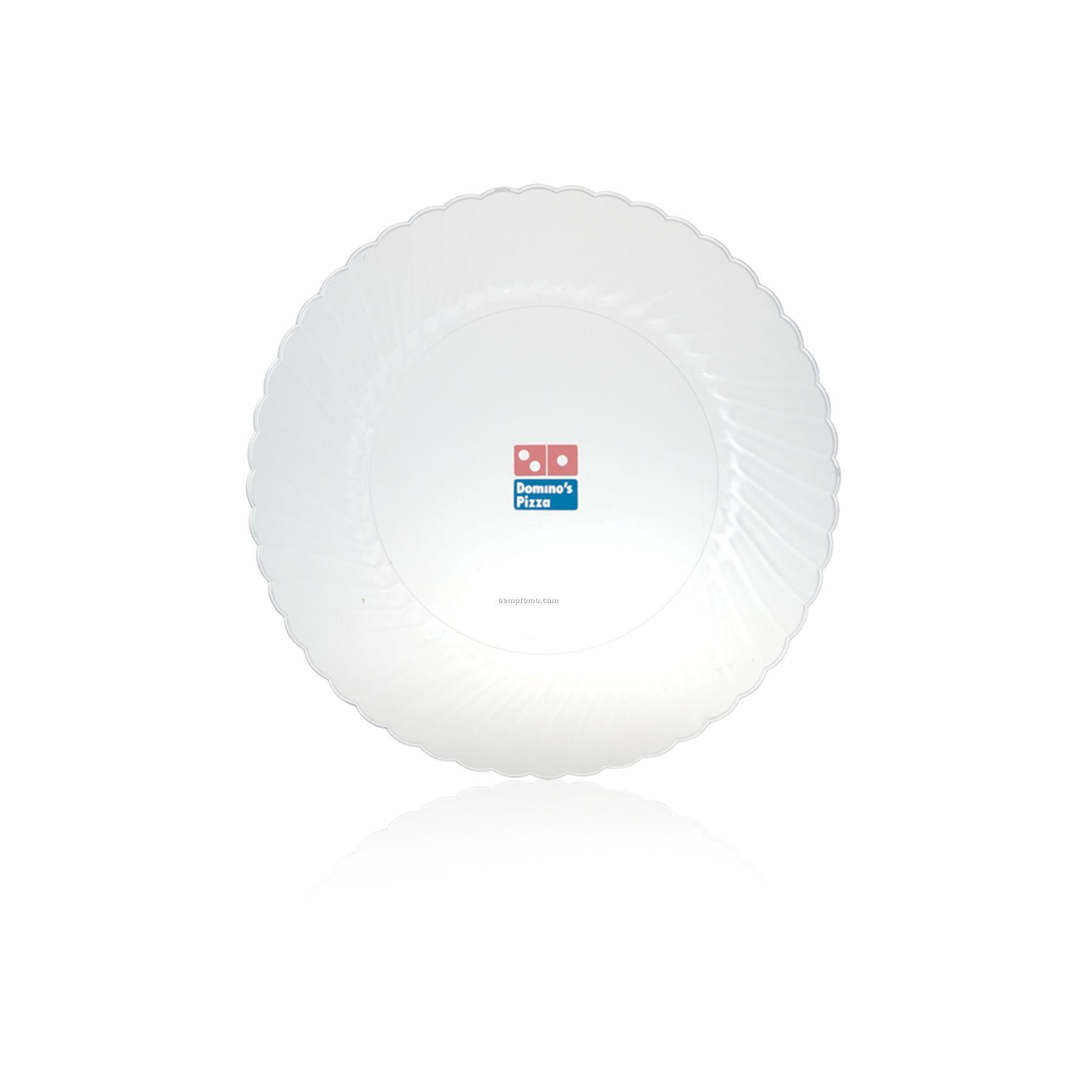 """10"""" Plastic Classicware Plates (Clear)"""